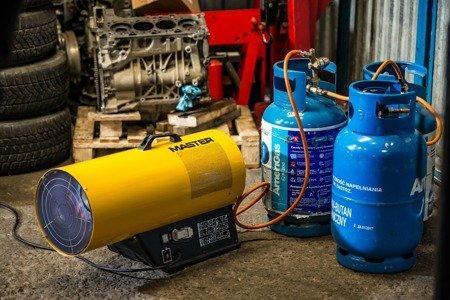 Nagrzewnica gazowa Master BLP 16M + zestaw do sprzęgania butli