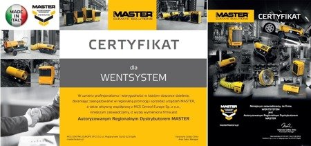 Nagrzewnica olejowa Master B 35 CEL + zestaw kół