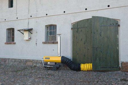 Nagrzewnica olejowa Master BV 170 E + termostat TH5 10-metrowy + przewody giętkie nylonowe 7,6 m z torbą + zestaw podłączeniowy